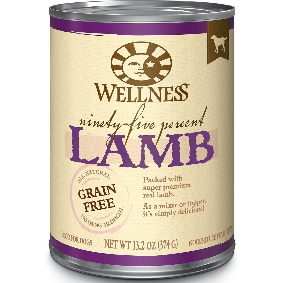 Wellness Ninety-Five Percent Lamb Grain-Free Canned Dog Food
