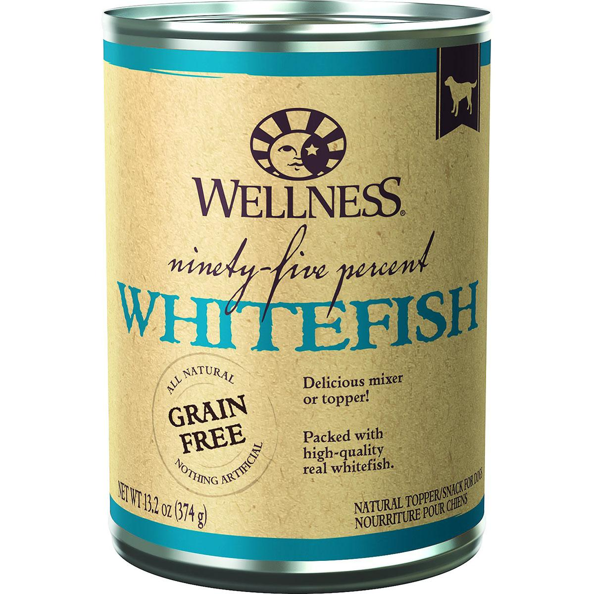 Wellness Ninety-Five Percent Whitefish Grain-Free Canned Dog Food