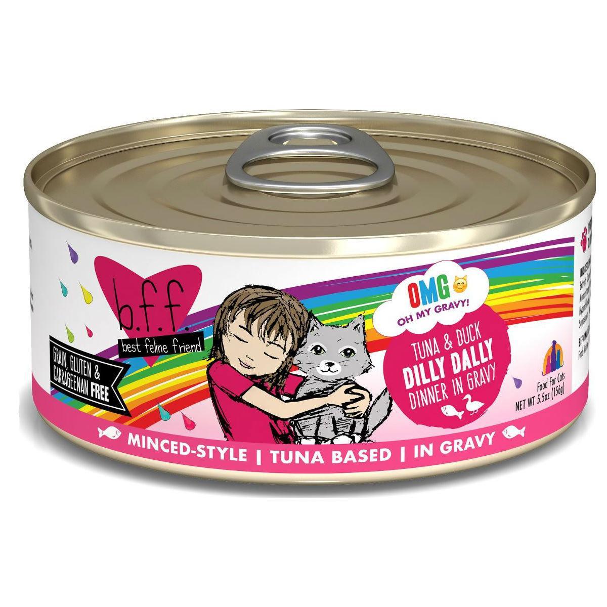 Weruva BFF OMG! Dilly Dally Wet Cat Food - Minced Style Tuna & Duck Dinner in Gravy