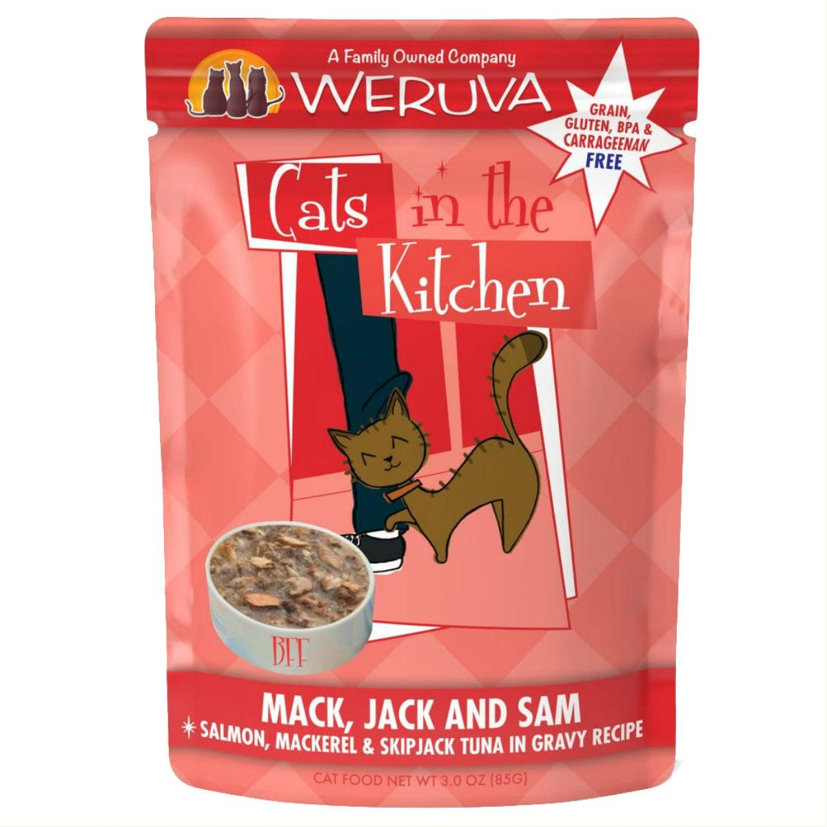 Weruva Cats in The Kitchen Cat Food Pouch - Mack, Jack and Sam