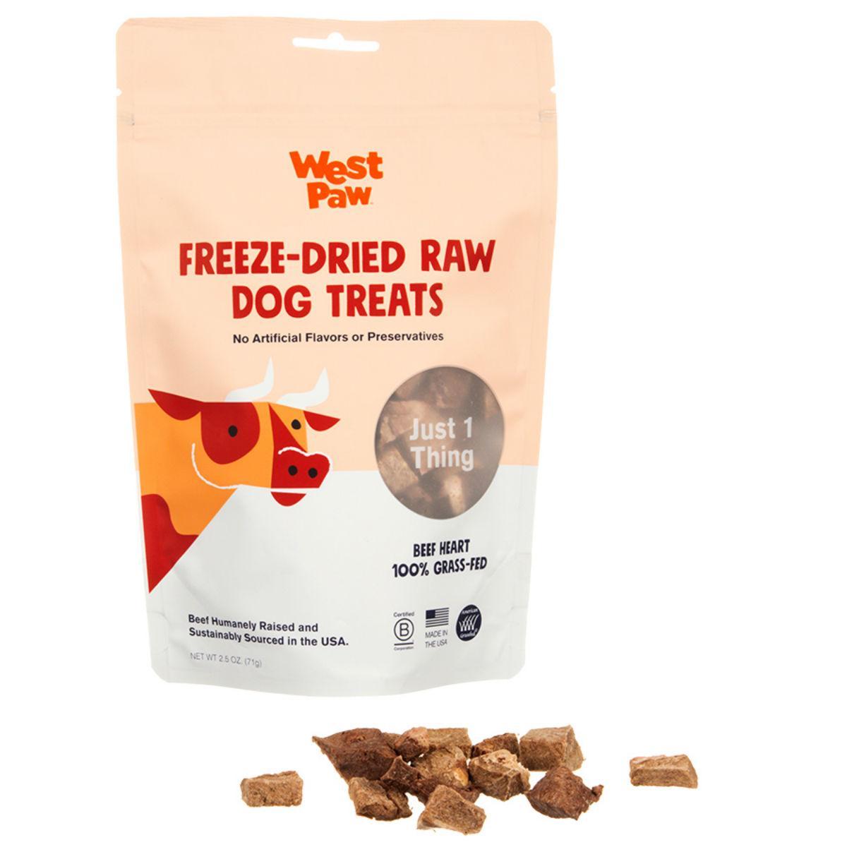 West Paw Freeze Dried Raw Dog Treat - Beef Heart