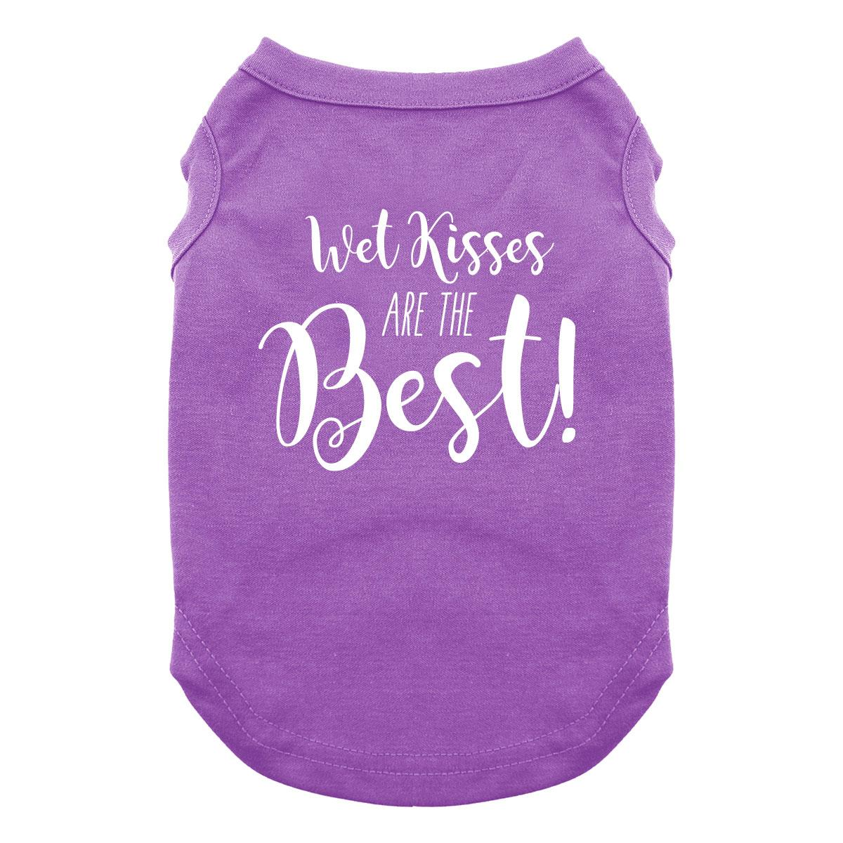 Wet Kisses are the Best Dog Shirt - Purple