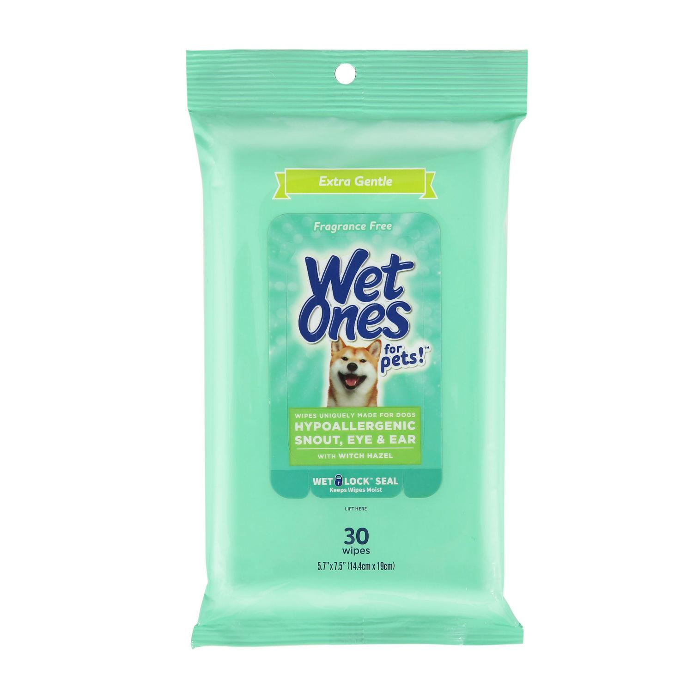 Wet Ones Hypoallergenic Face/Eye/Ear Dog Wipes