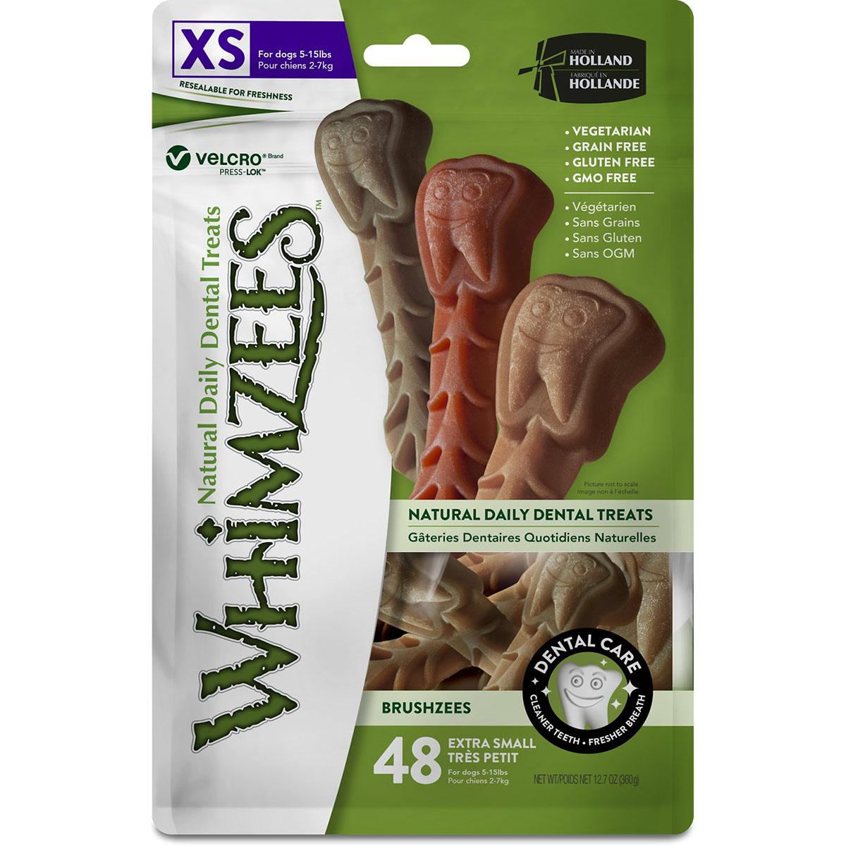 Whimzees Brushzees Natural Dental Dog Treats