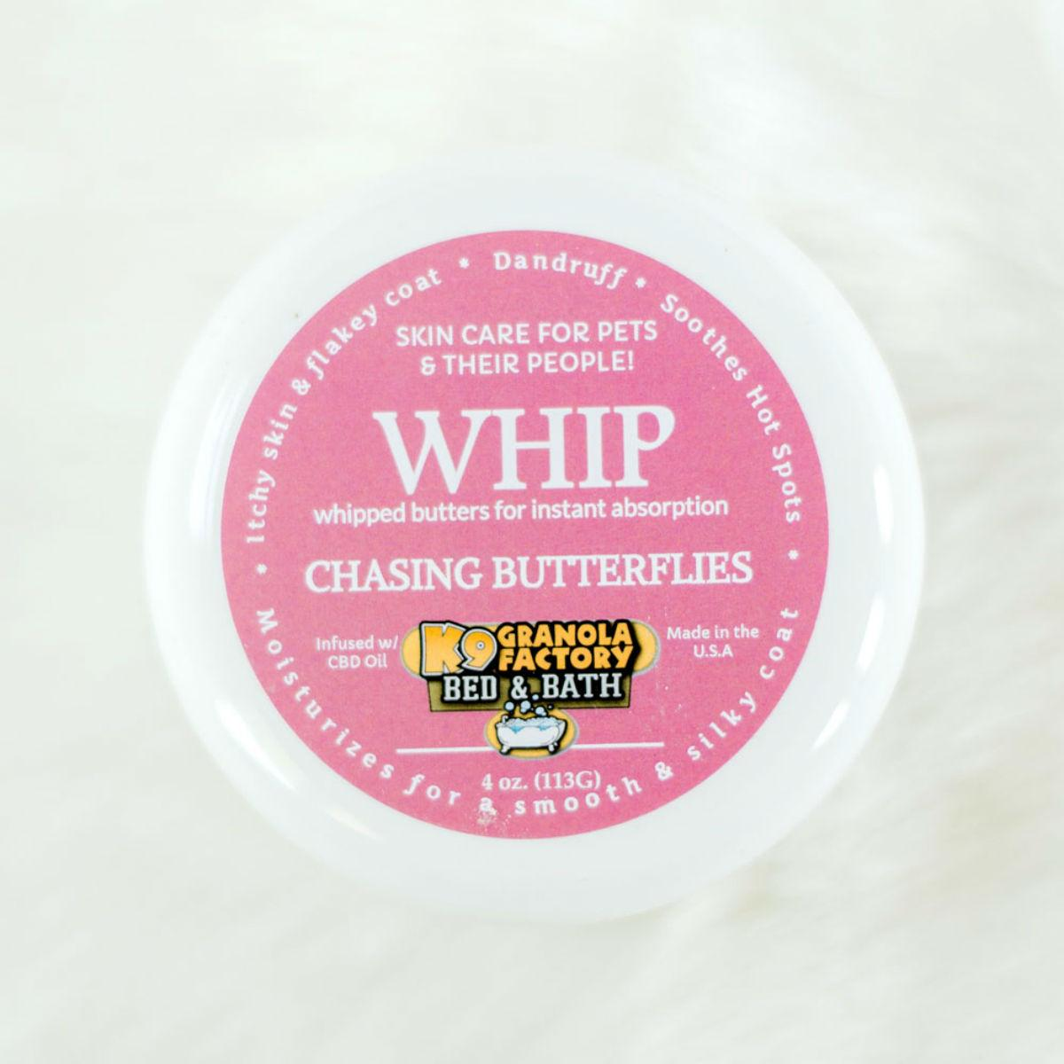 K9 Granola Factory WHIP Body Butter Dog Moisturizer - Chasing Butterflies