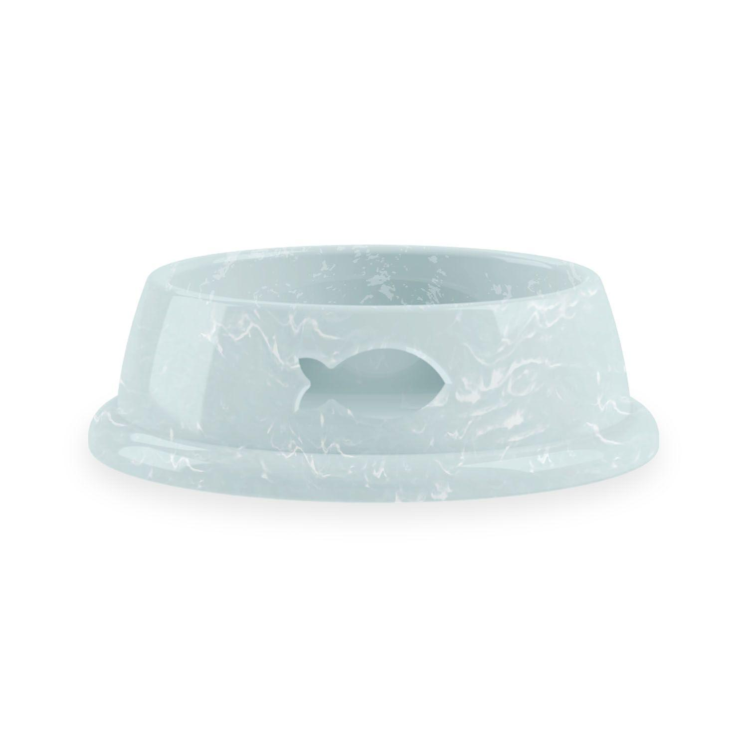 Whiskers Cat Bowl by Tarhong- Marbled Mint - Fish