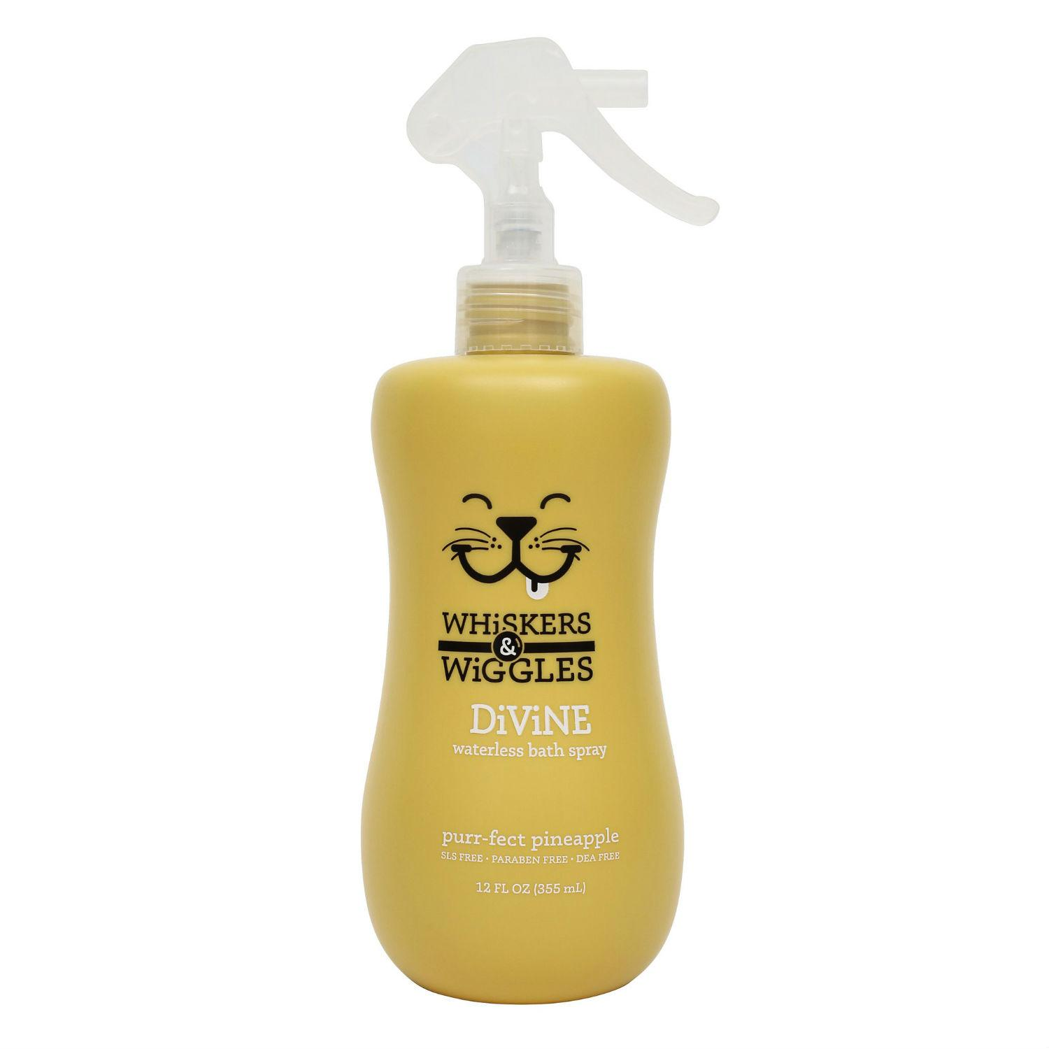 Whiskers & Wiggles Divine Waterless Cat Bath Spray - Purr-fect Pineapple