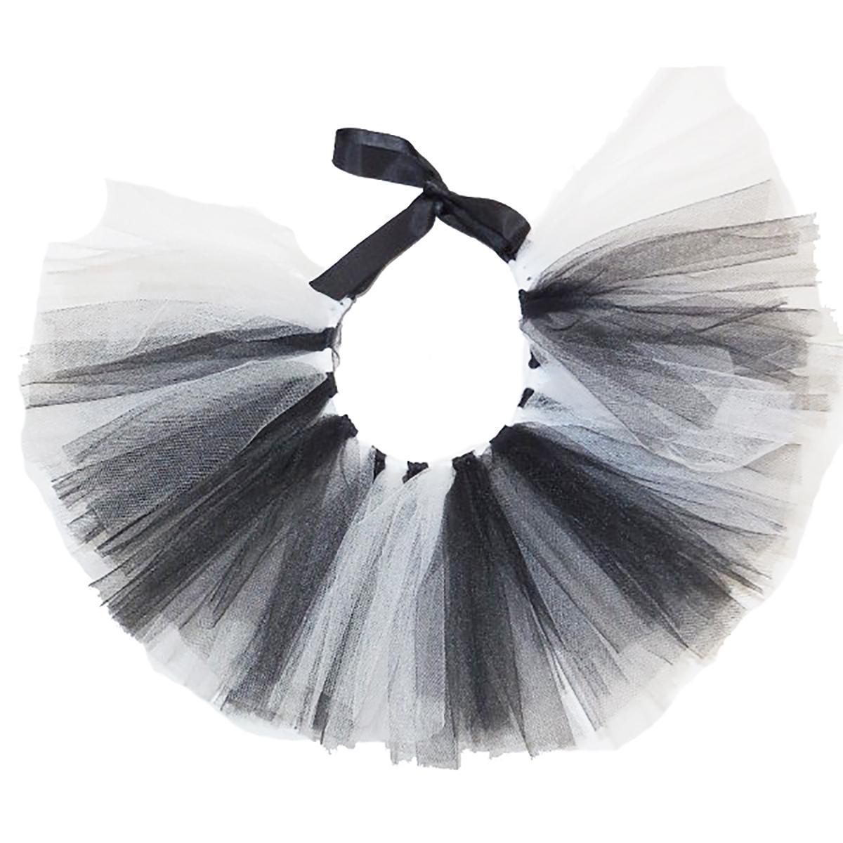 White/Black Tulle Dog Tutu by Pawpatu