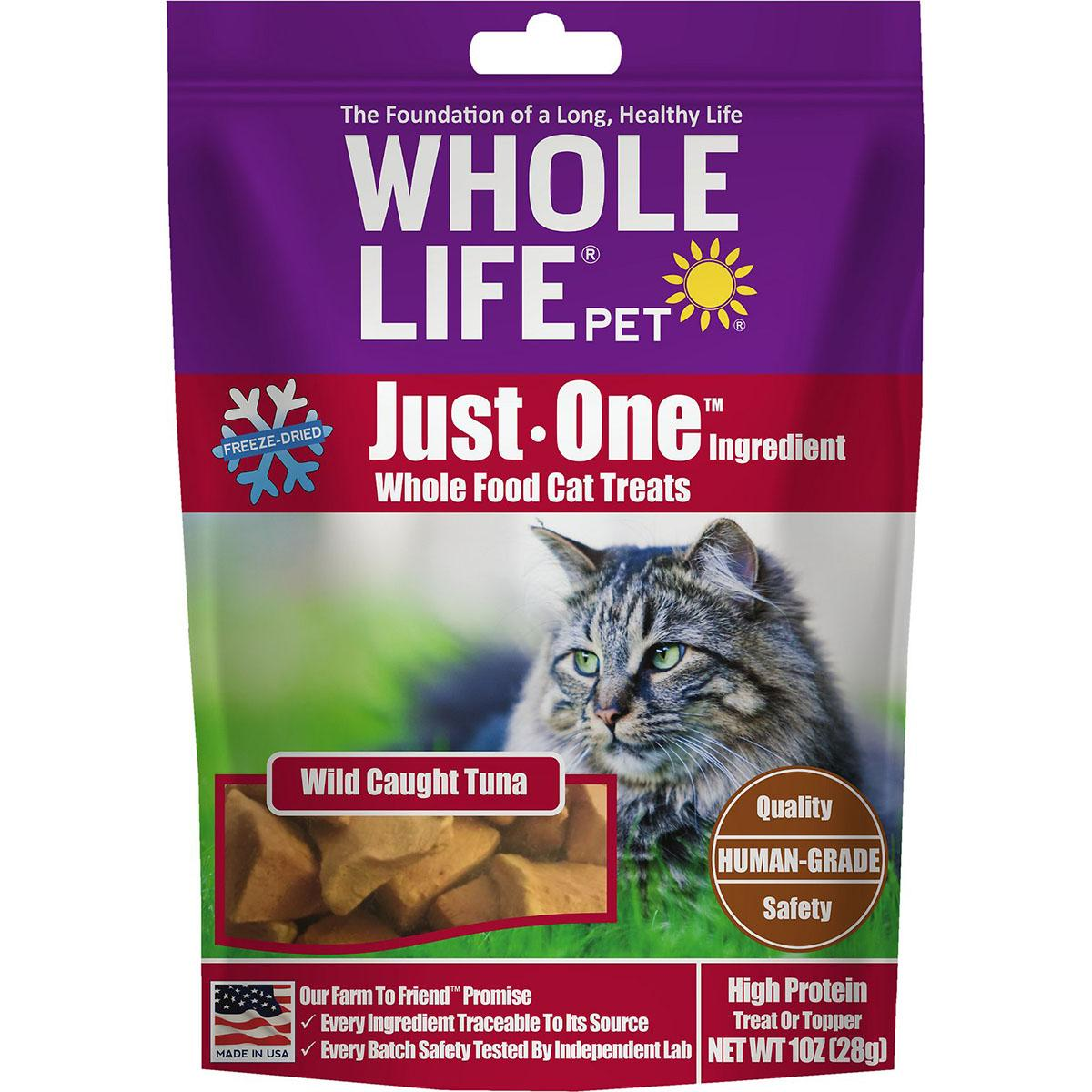 Whole Life Pet Just One Ingredient Freeze-Dried Tuna Cat Treats