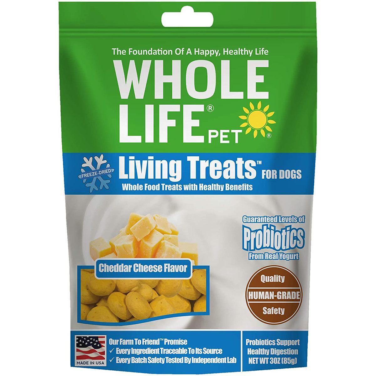 Whole Life Pet Living Treats Freeze-Dried Cheddar Cheese Dog Treats
