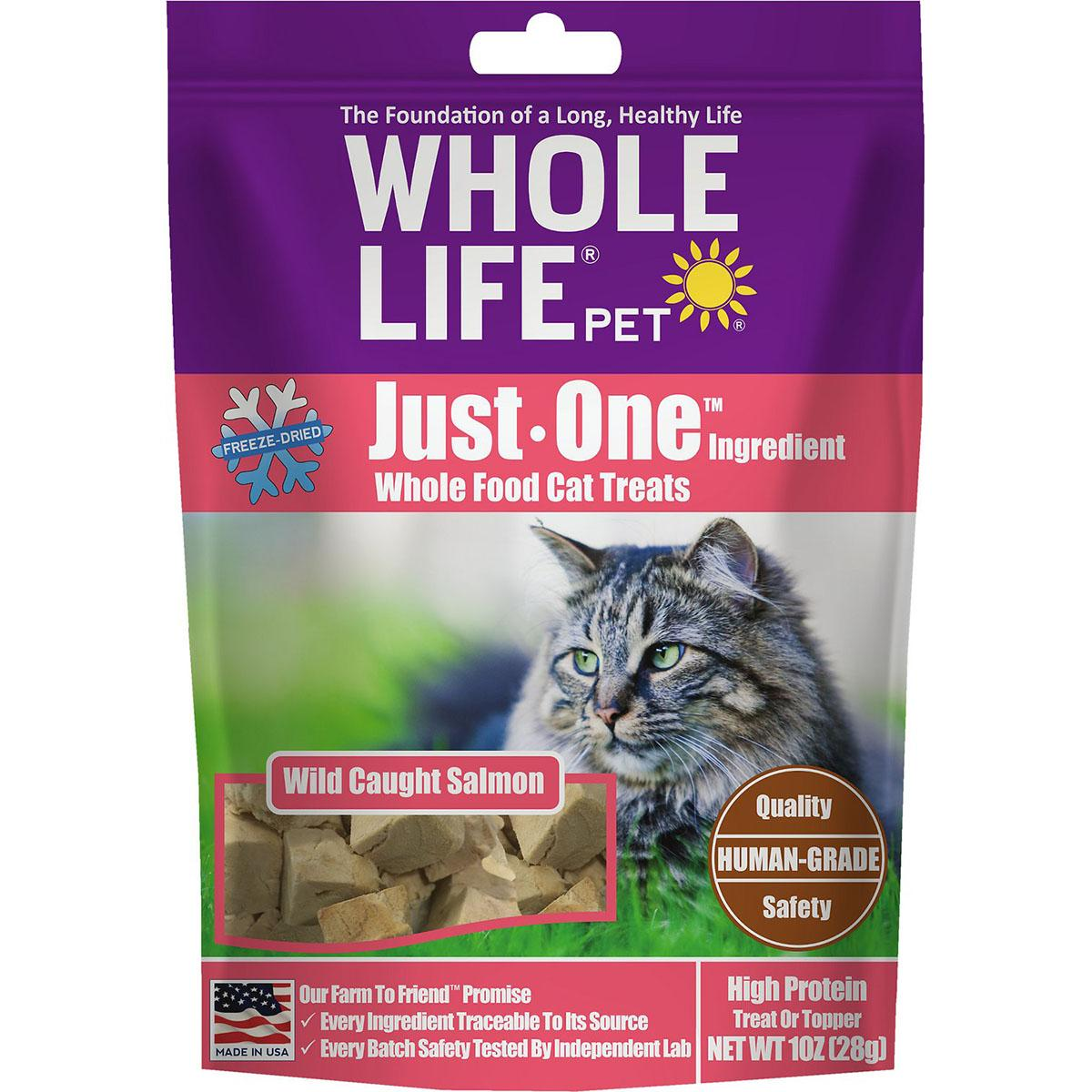 Whole Life Pet Just One Ingredient Freeze-Dried Salmon Cat Treats