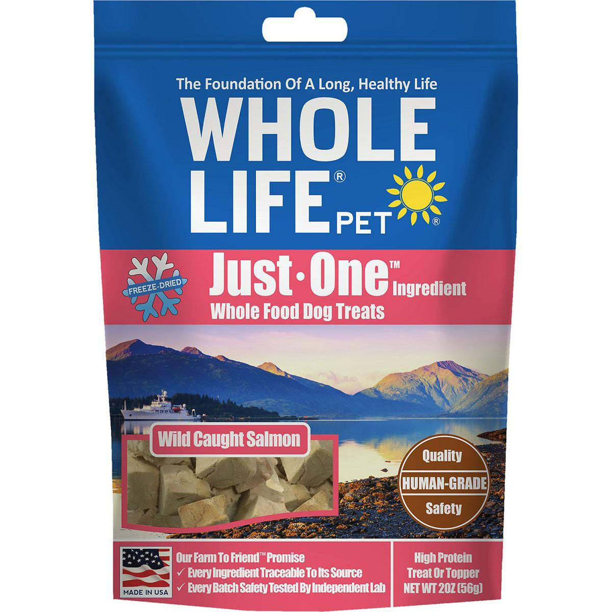 Whole Life Pet Just One Ingredient Freeze-Dried Salmon Dog Treats