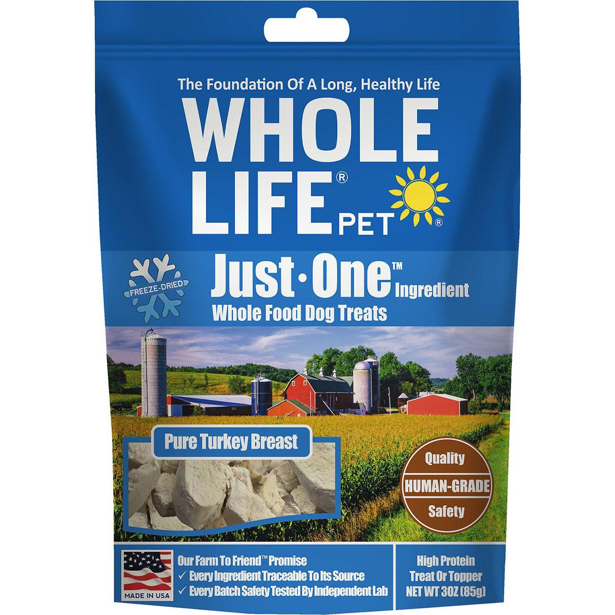 Whole Life Pet Just One Ingredient Freeze-Dried Turkey Dog Treats
