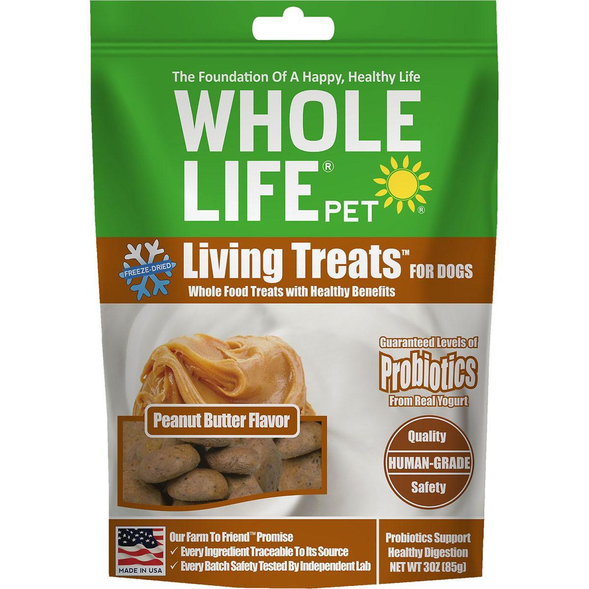 Whole Life Pet Living Treats Freeze-Dried Peanut Butter Dog Treats