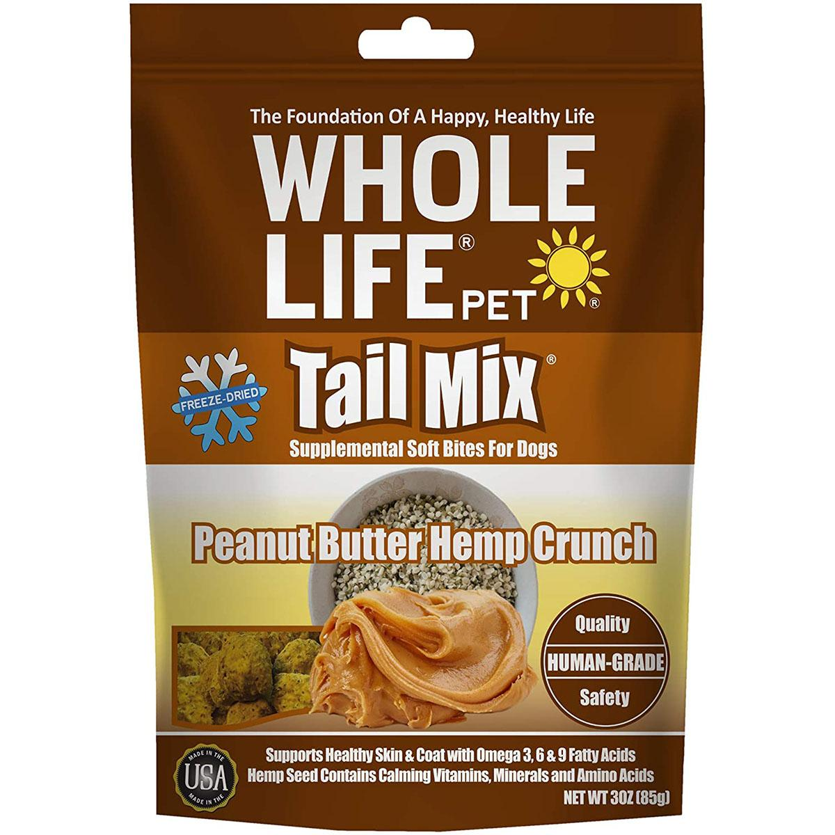 Whole Life Pet Tail Mix Freeze-Dried Peanut Butter Hemp Crunch Dog Treats