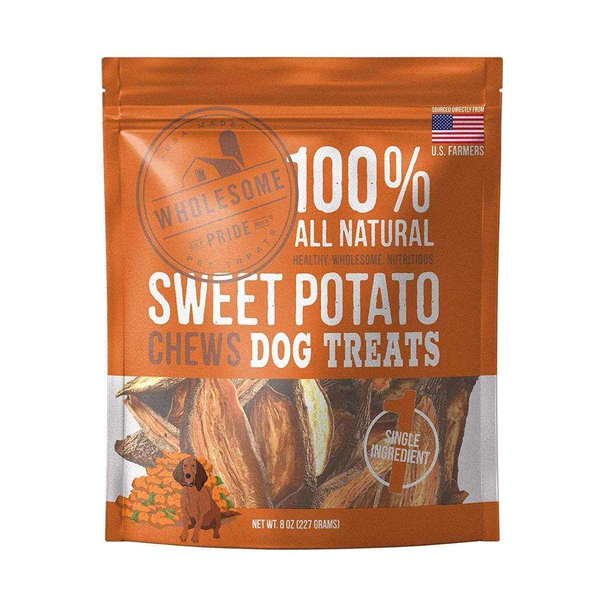 Wholesome Pride Chews Dog Treats - Sweet Potato