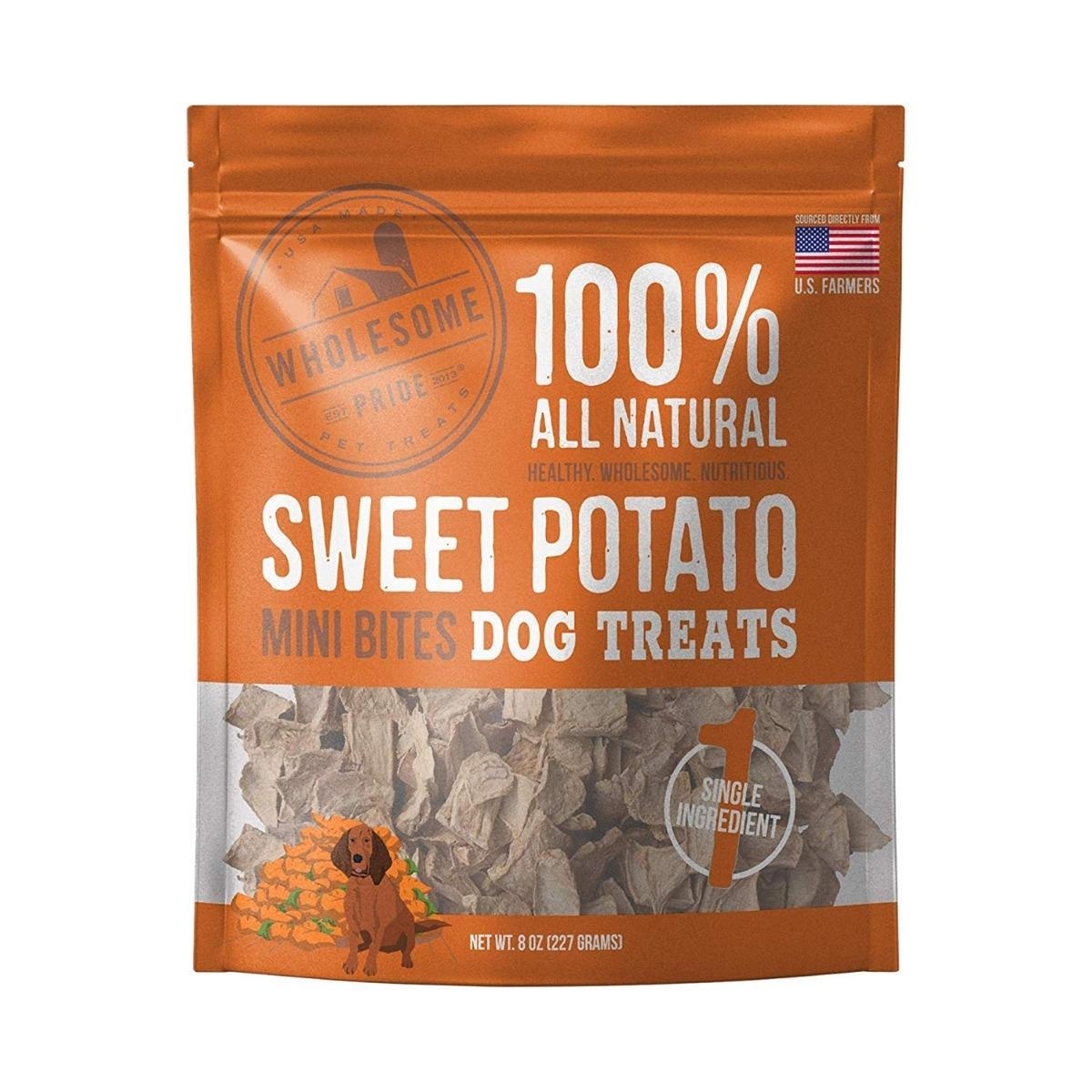 Wholesome Pride Mini Bites Dog Treats - Sweet Potato
