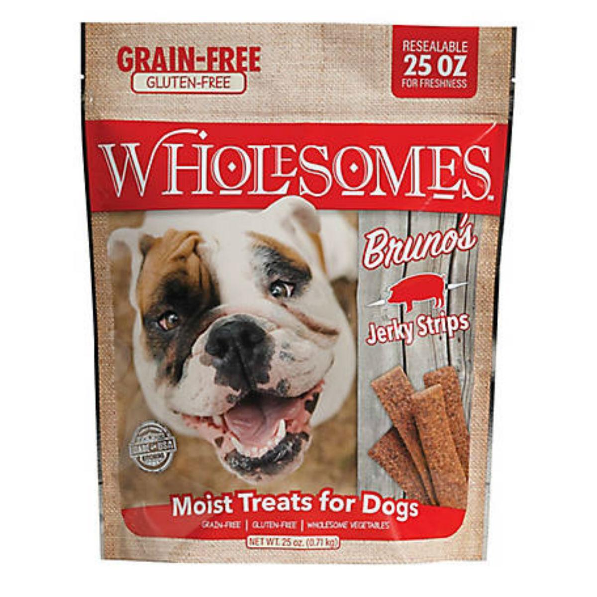 Sportmix Wholesomes Bruno's Pork Jerky Strips Dog Treats