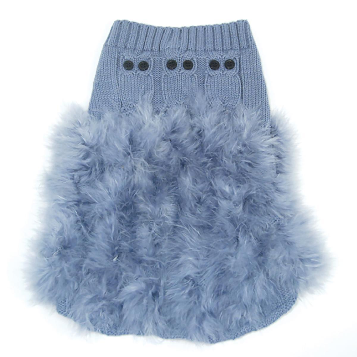 Whoo Me Dog Sweater Dress by Oscar Newman - Steel Blue