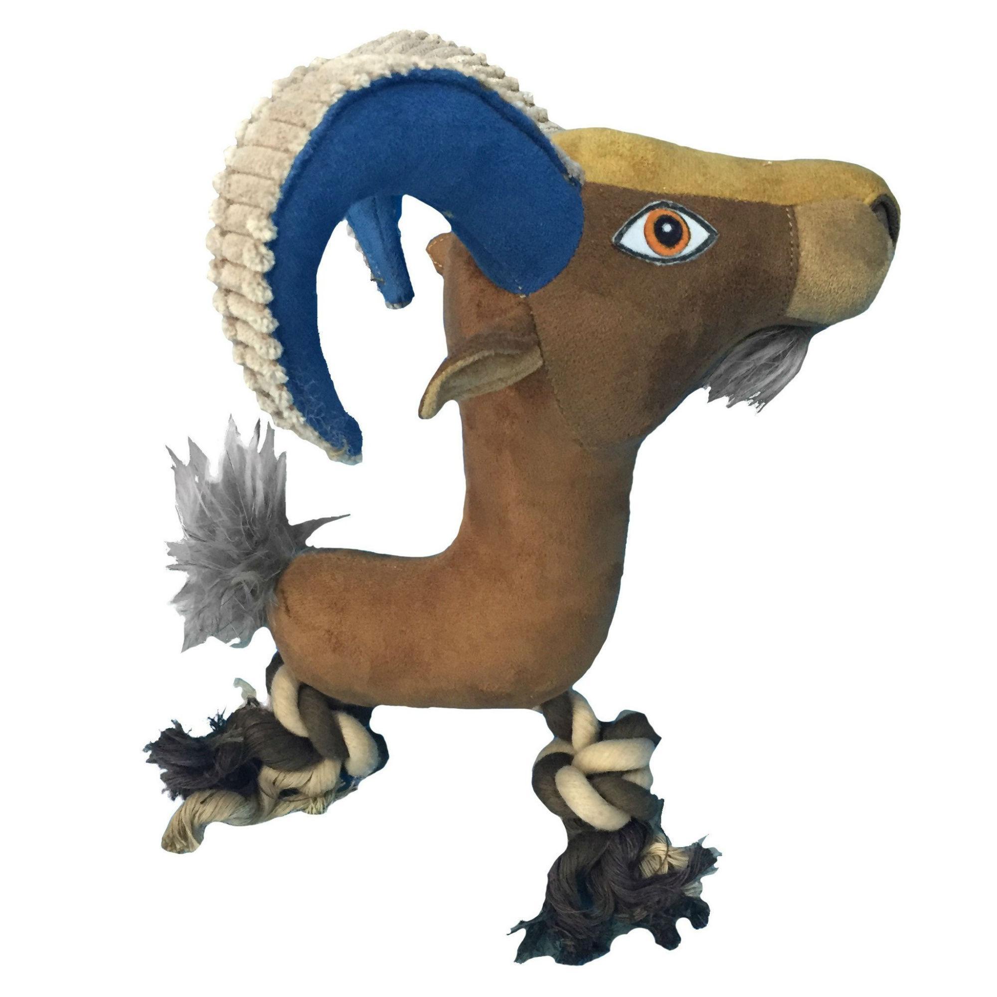 Wild Animal Rope Dog Toy - Goat