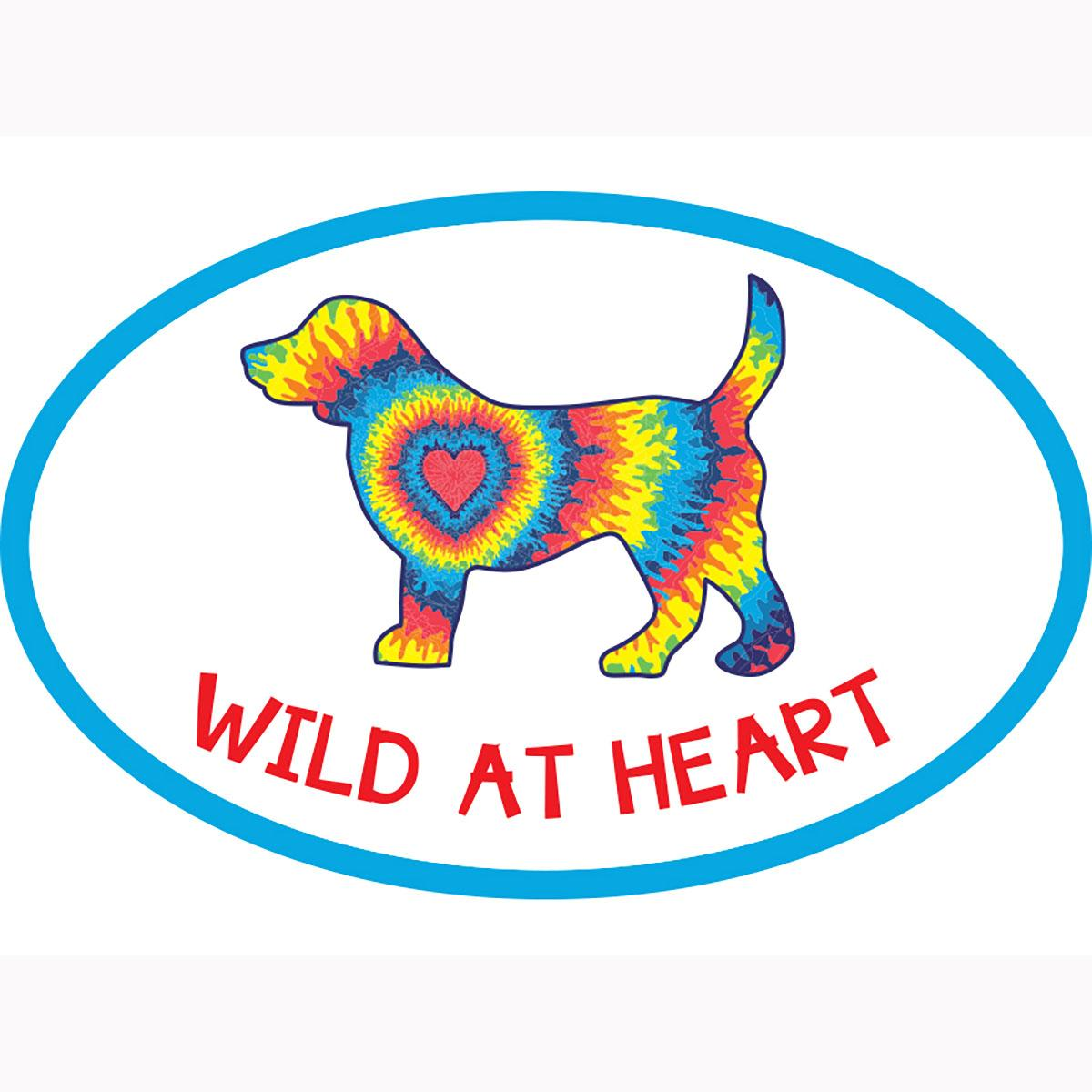 Wild at Heart Oval Magnet by Dog Speak