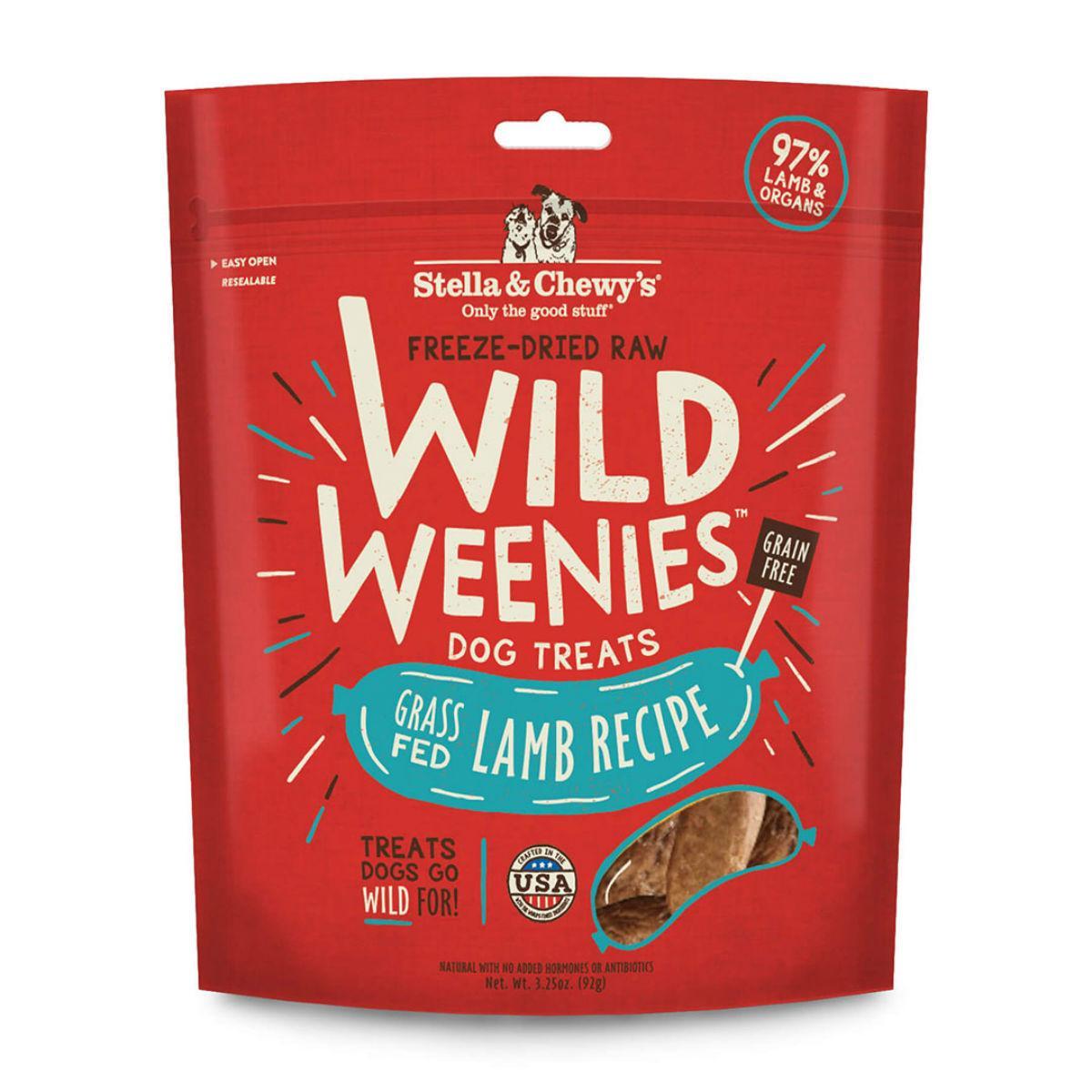 Stella & Chewy's Wild Weenies Freeze-Dried Raw Dog Treats - Lamb
