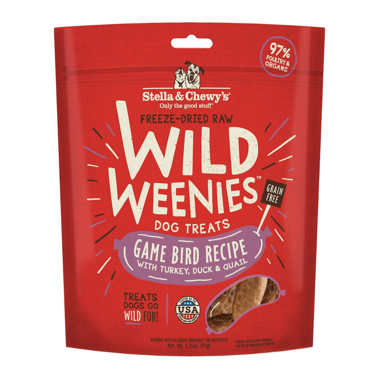 Stella & Chewy's Wild Weenies Freeze-Dried Raw Dog Treats - Game Bird
