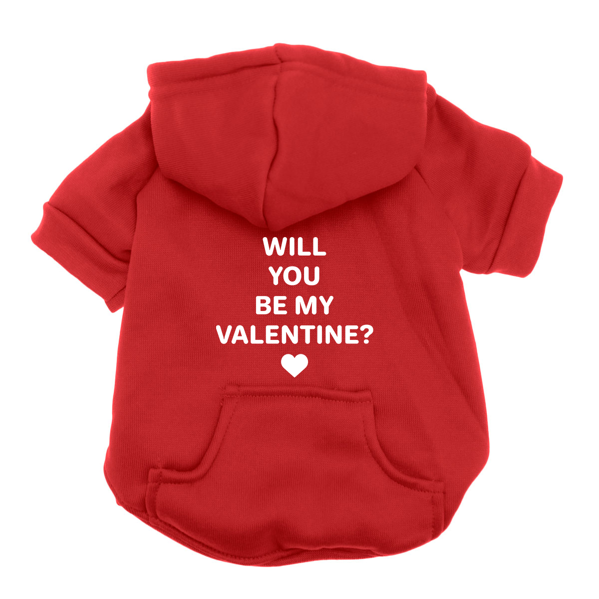 Will You Be My Valentine Dog Hoodie - Red