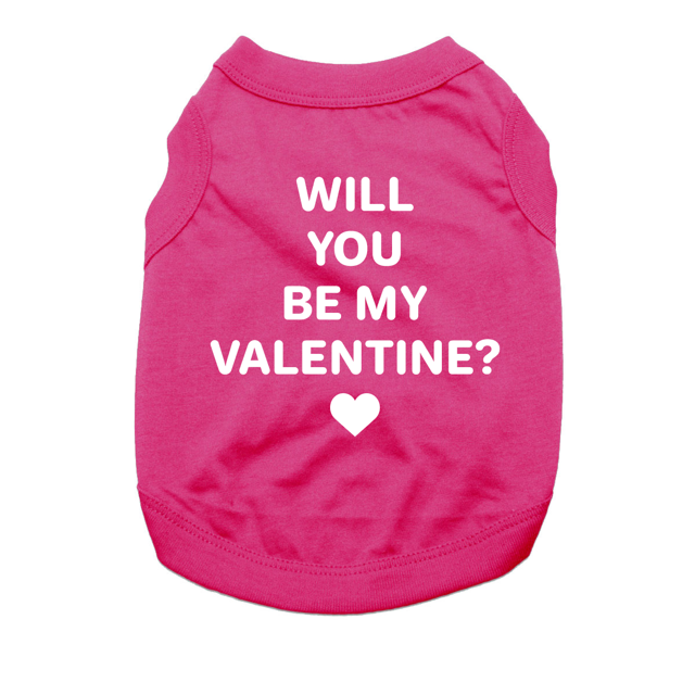 Will You Be My Valentine Dog Shirt Raspber Baxterboo