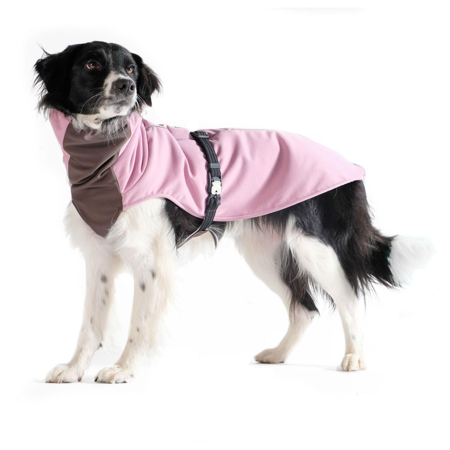 Winter Paw Dog Coat by Gold Paw - Lilac with Gray