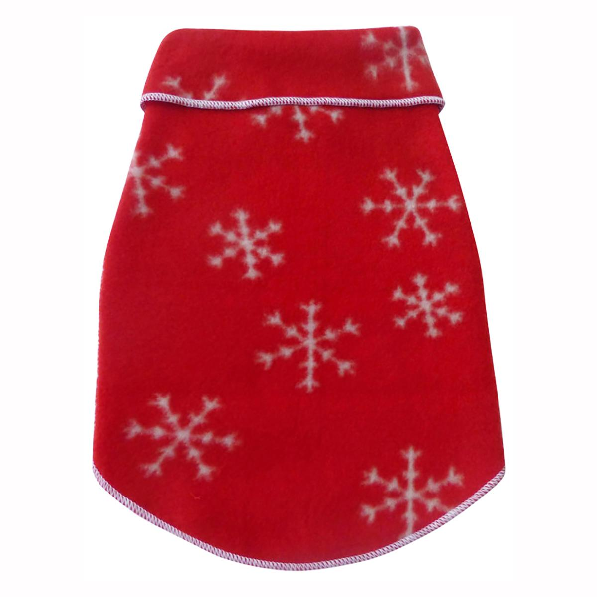 Winter Snowflakes Dog Pullover - Red