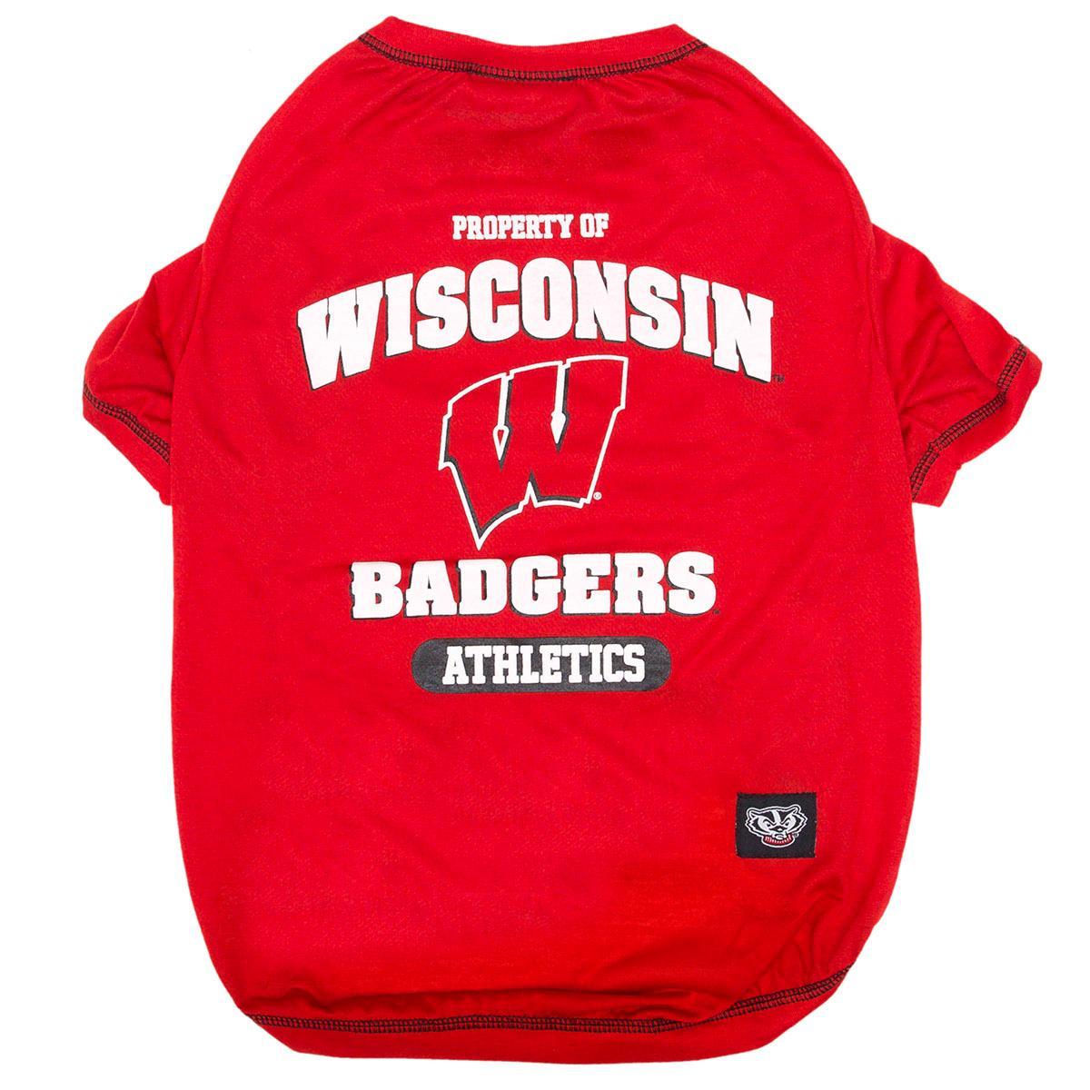 Wisconsin Badgers Athletics Dog T-Shirt