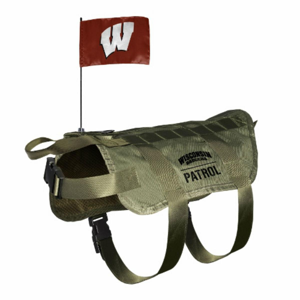Wisconsin Badgers Tactical Vest Dog Harness