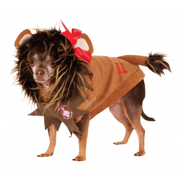 Wizard of Oz Cowardly Lion Dog Halloween Costume