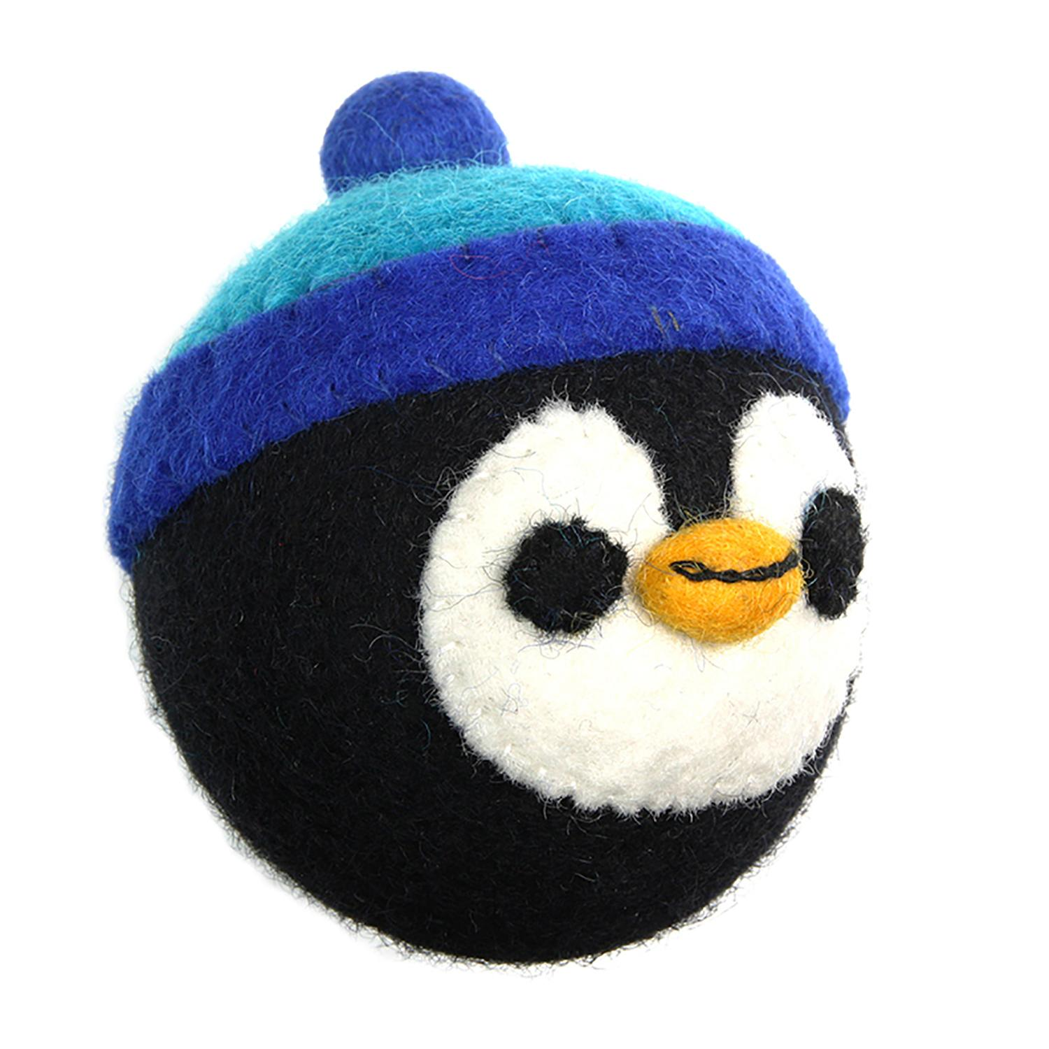 Wooly Wonkz Christmas Ball Dog Toy - Penguin