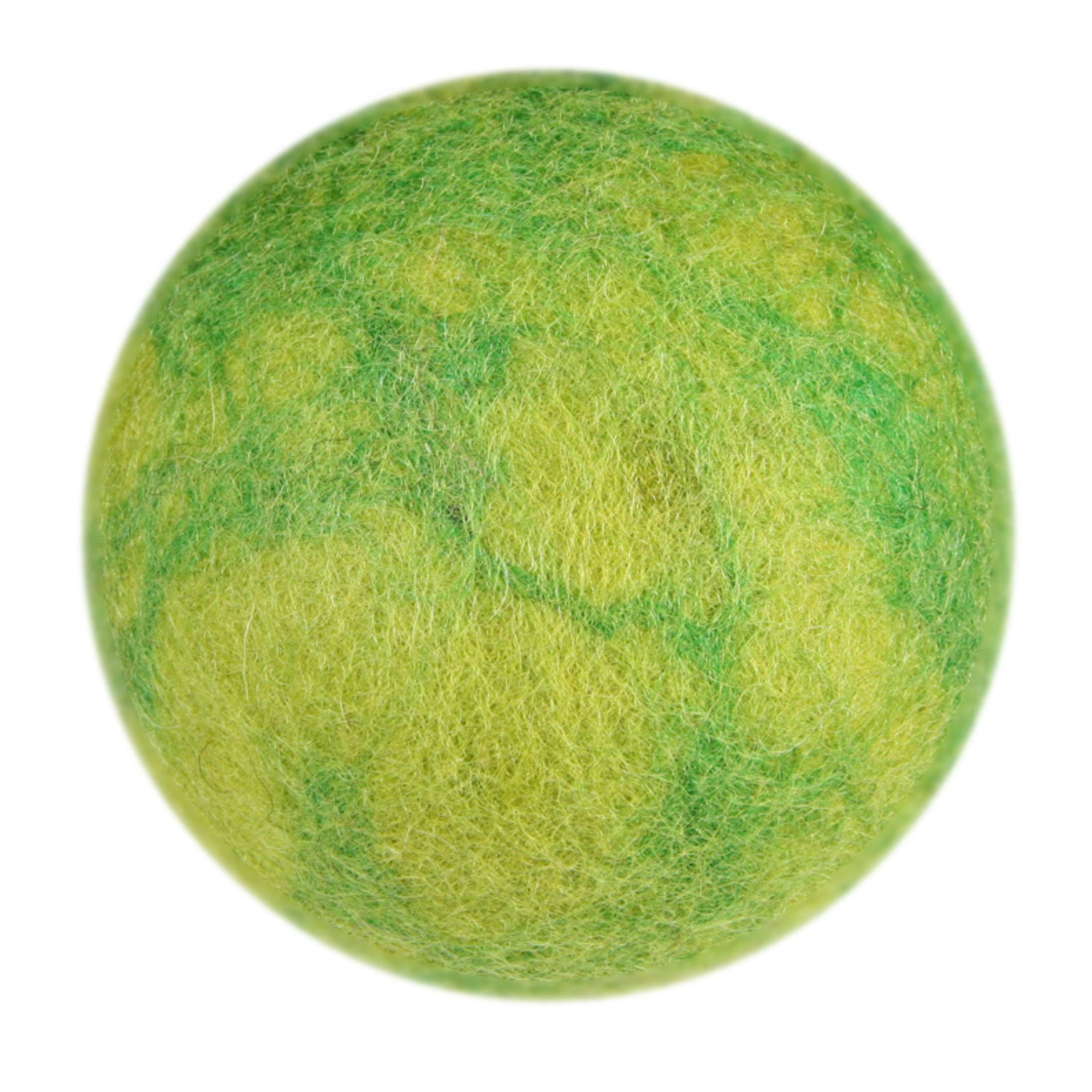 Wooly Wonkz Woodland Dog Toy - Green Stone Ball
