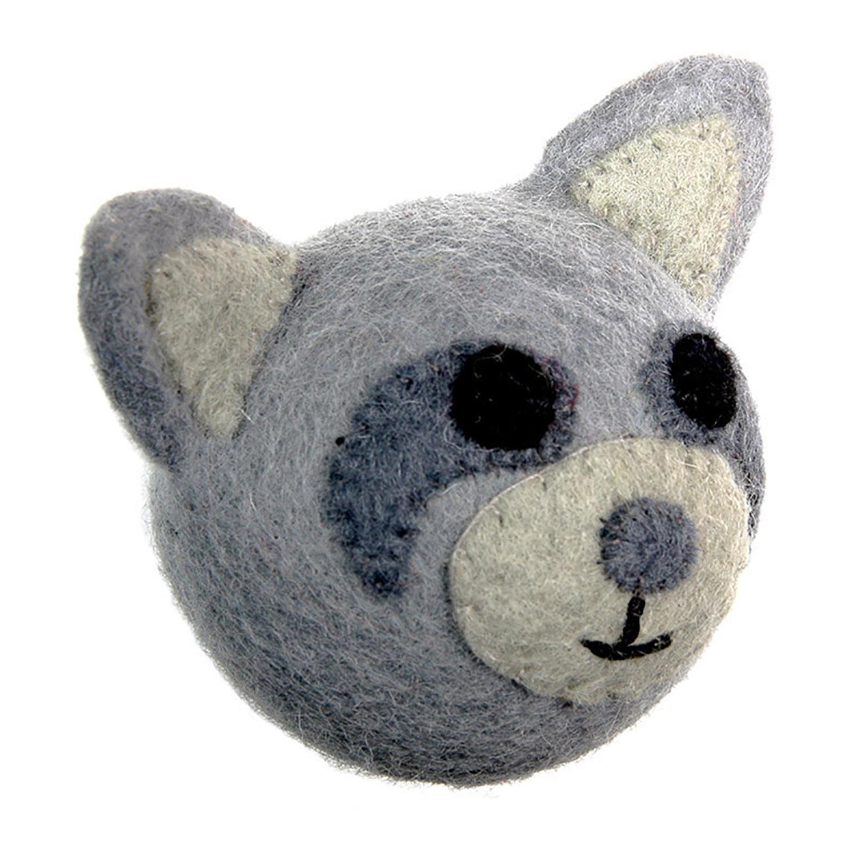 Wooly Wonkz Woodland Dog Toy - Raccoon