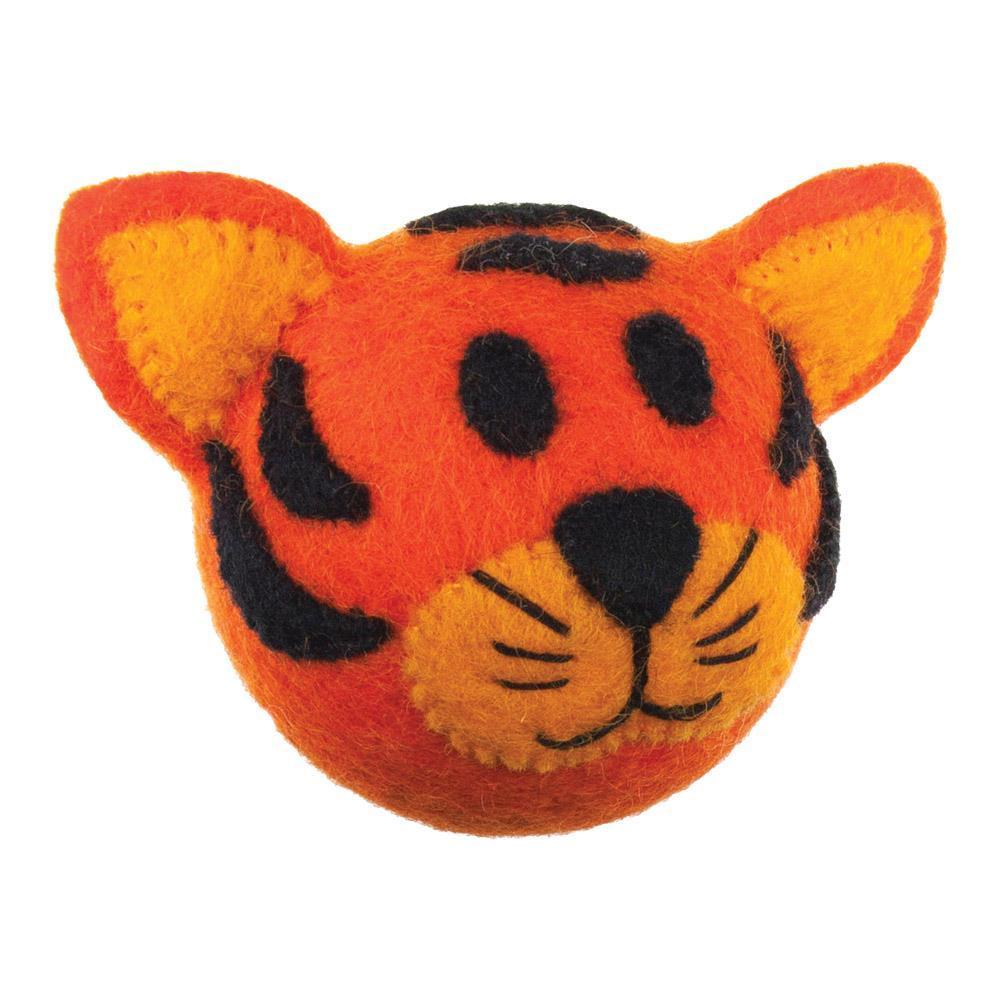 Wooly Wonkz Safari Dog Toy - Tiger