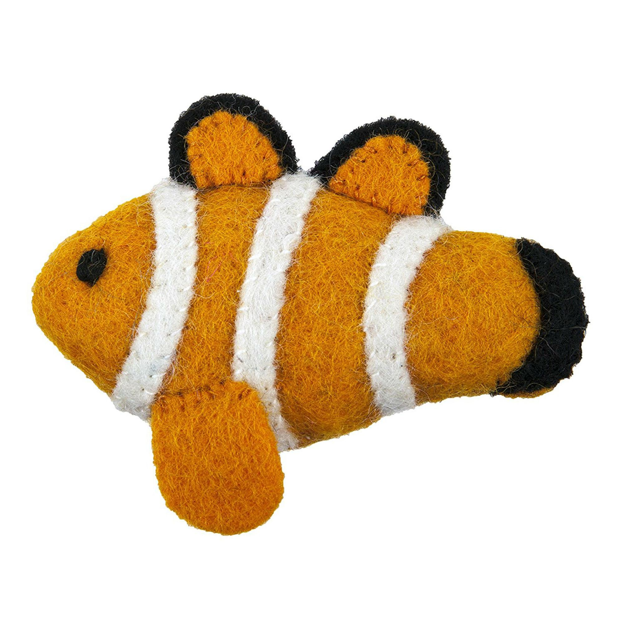 Wooly Wonkz Under The Sea Cat Toy - Clown Fish
