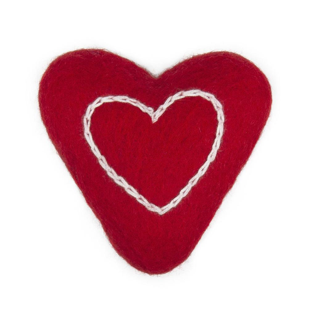 Wooly Wonkz Valentine Cat Toy - Lil Heart