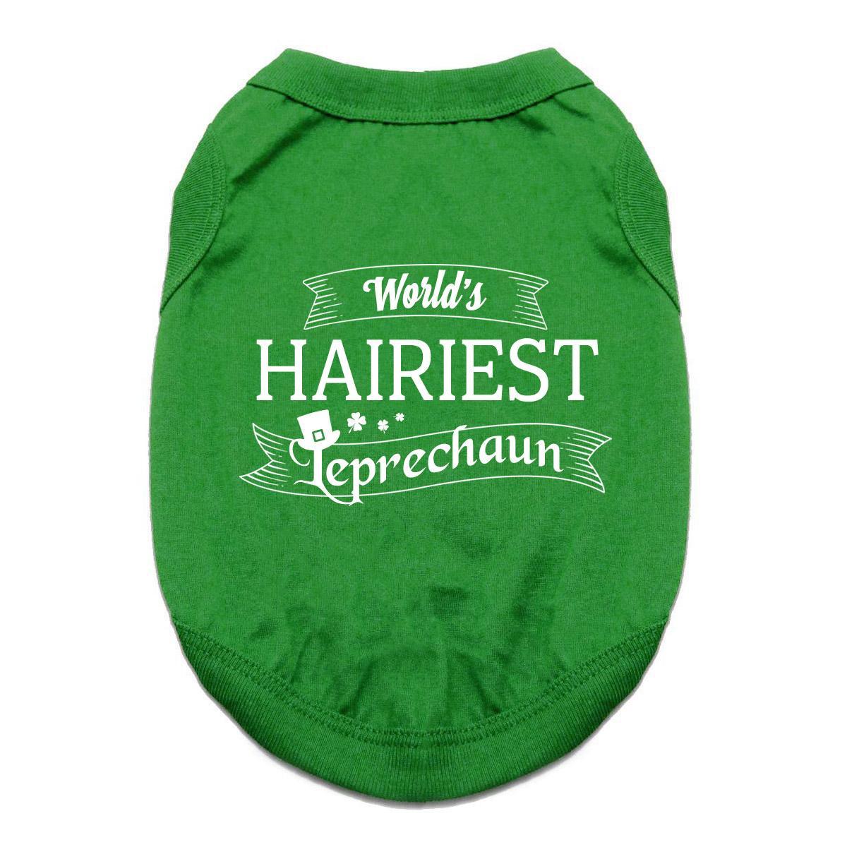 World's Hairiest Leprechaun Dog Shirt - Green