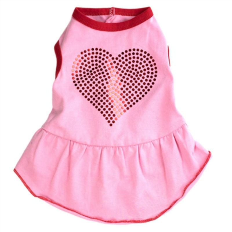 Worthy Dog Bling Heart Dog Dress