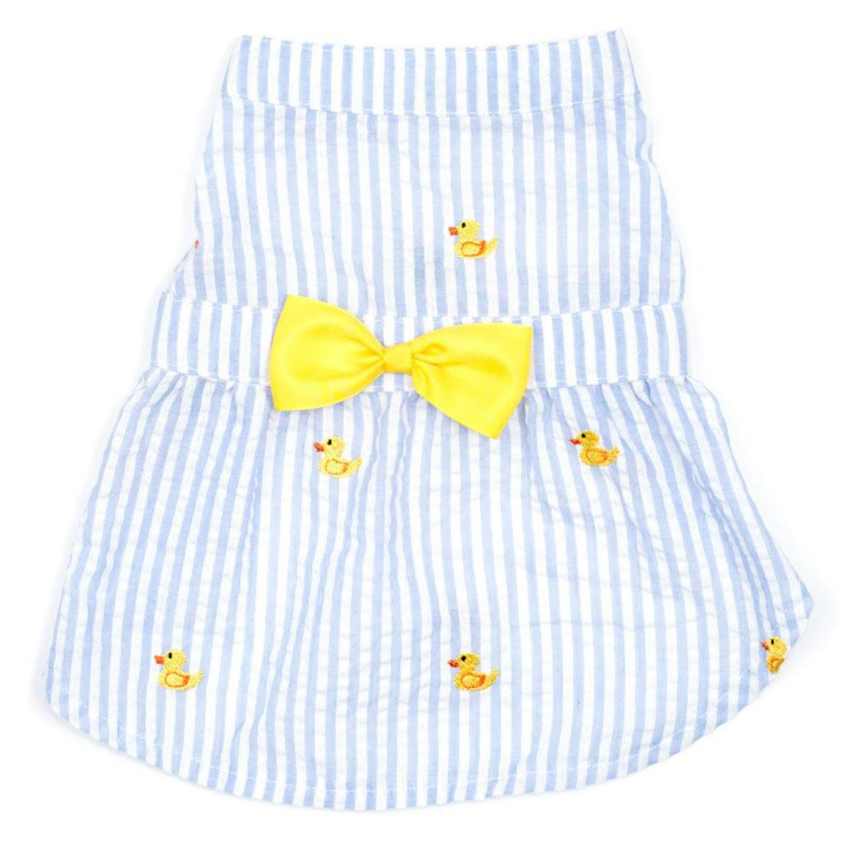 Worthy Dog Blue Stripe Rubber Duck Dog Dress