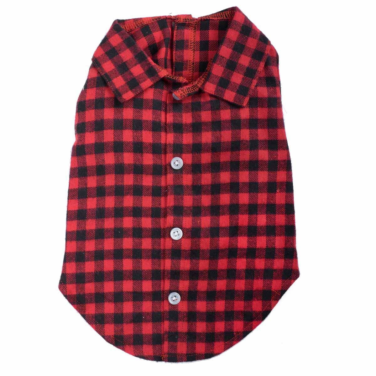 Worthy Dog Buffalo Plaid Dog Shirt