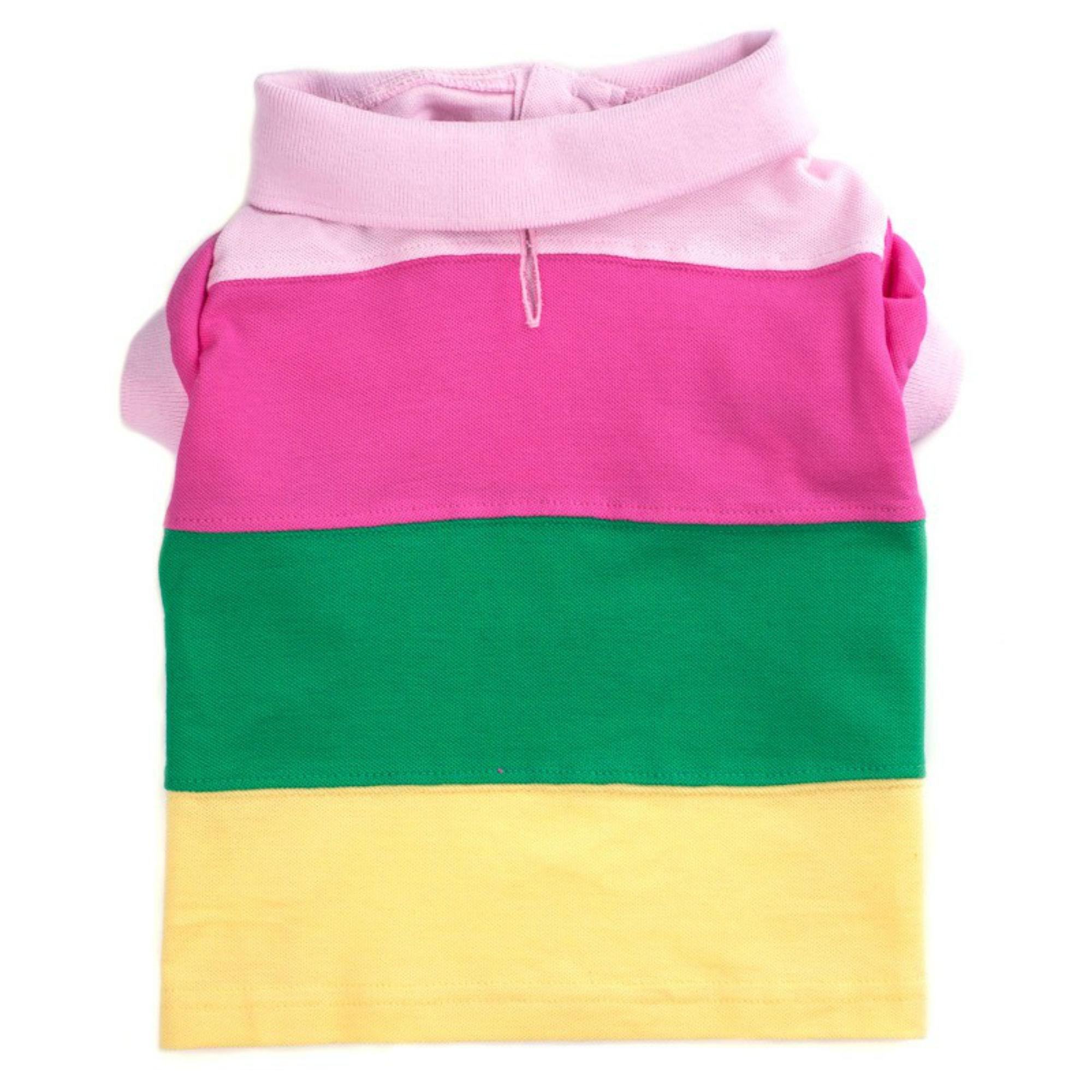 Worthy Dog Color Block Dog Polo - Pastel