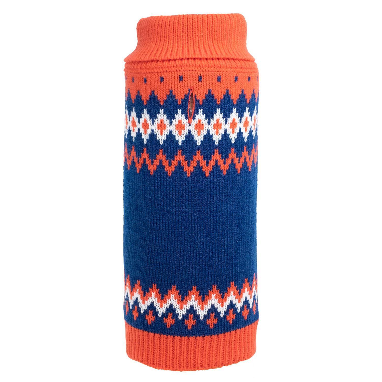Worthy Dog Fairisle Dog Sweater - Orange