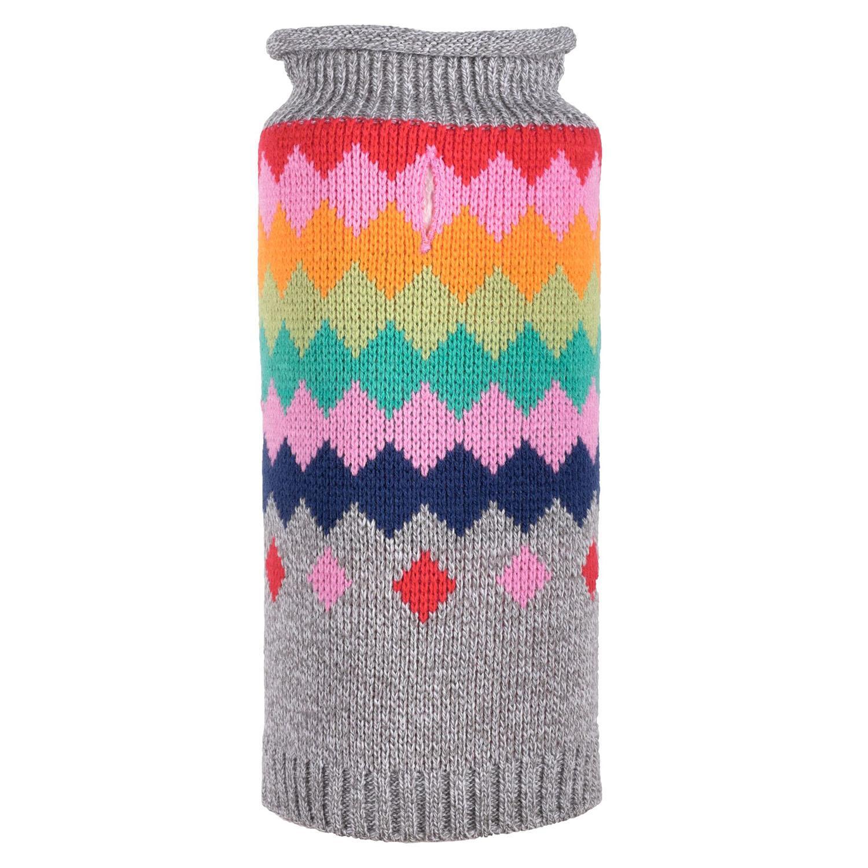 Worthy Dog Fairisle Dog Sweater - Argyle