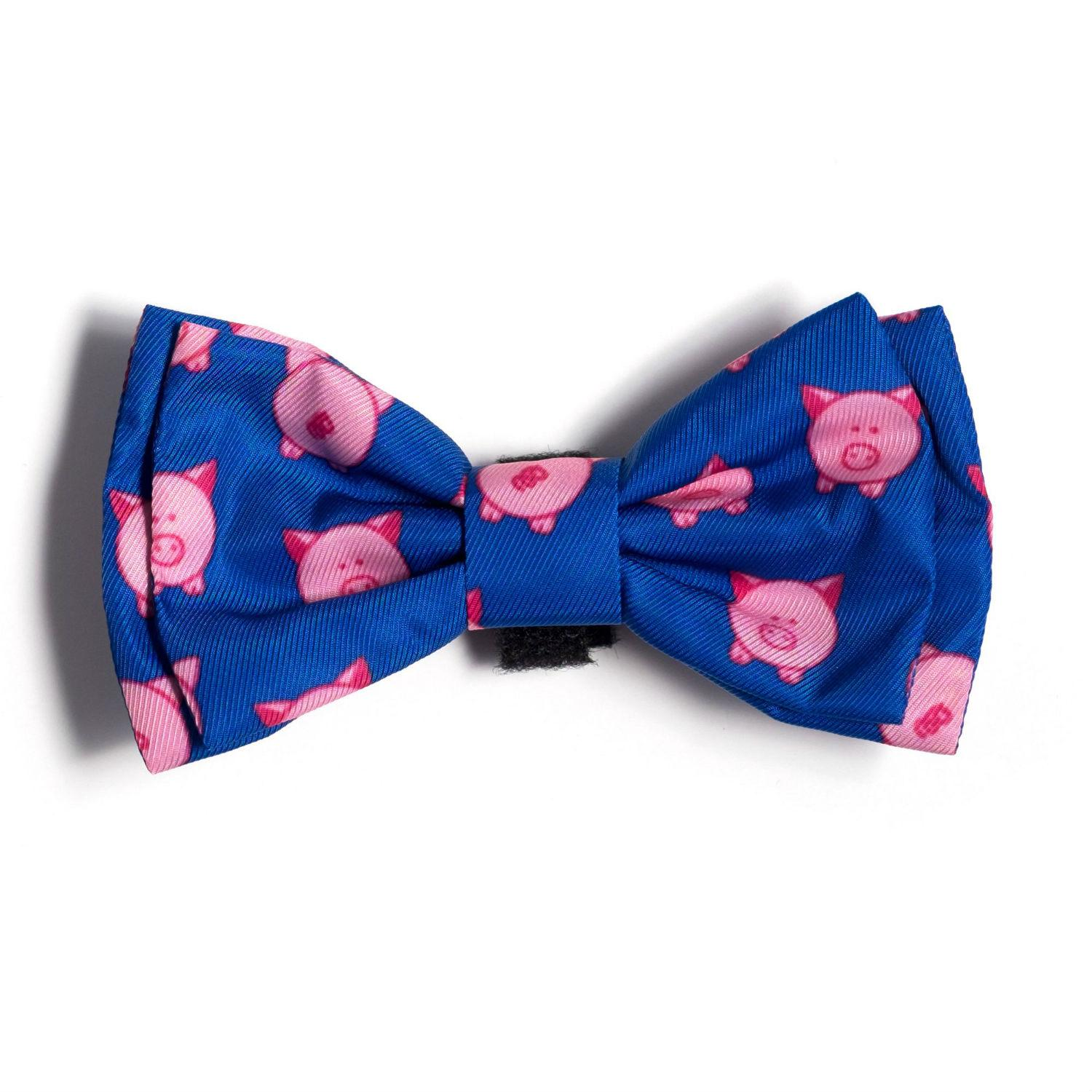 Worthy Dog Wilbur the Pig Dog and Cat Bow Tie Collar Attachment