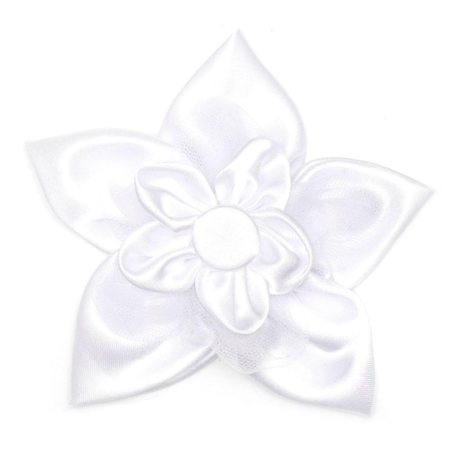 Worthy Dog I Do White Flower Dog and Cat Collar Attachment