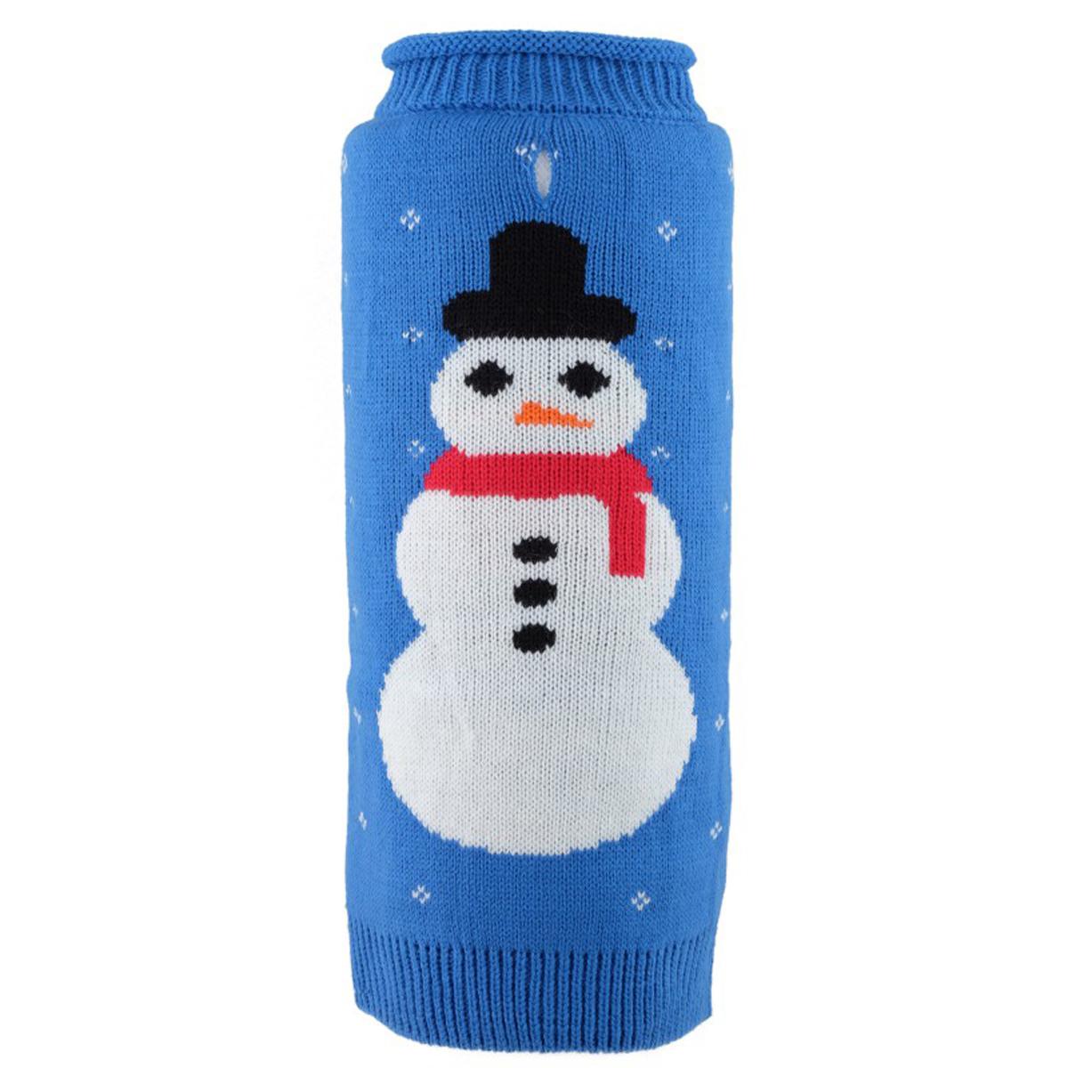 Worthy Dog Frosty Roll Neck Dog Sweater - Blue